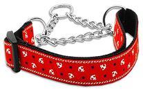 Anchors Nylon Ribbon Collar Martingale Red Medium