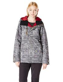 Roxy SNOW Juniors Andie Snow Jacket, Patchwork Burnt Olive,