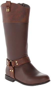 Tommy Hilfiger Kids Andrea Rider Charm Riding Boot ,Dark