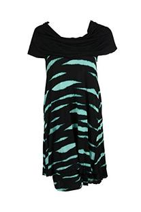 Kensie Women's Animal Stripe Dress, Hazy Aqua Combo, Small