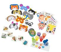 Animal Theme Party Set for Boys and Girls, 12 Animal Foam