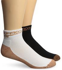 Copper Fit Ankle Socks , Black/White, Small/Medium