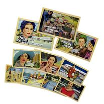 "10pk Anne Taintor 4x6"" Magnetic Postcards Set Refrigerator"