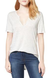 Women's Madewell Anthem Split Neck Tee, Size XX-Small - Grey