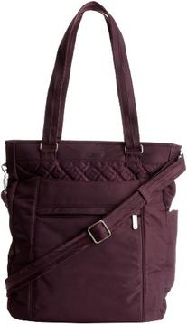 Travelon Anti-Theft Tote With Stitching, Eggplant, One Size