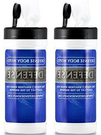 Defense Soap Antifungal Body Wipes 40 Count  - 100% Natural
