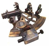 "Antiquated Brass 5"" Victorian Style Nautical Sextant in"