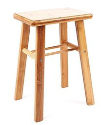 YOFAN Large Antique Children Bamboo Stool , Square Step