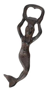 Antique Reproduction Iron Mermaid Bottle Opener Rust