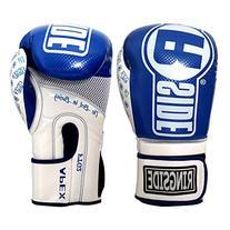 Ringside Apex Flash Sparring Gloves, Blue/White, 14-Ounce