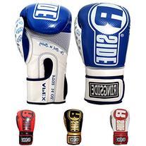 Ringside Apex Flash Sparring Gloves, Blue/White, 16-Ounce