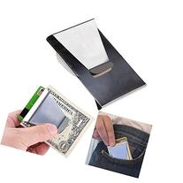 APG New Stainless Steel Slim Clip Double Sided Wallet Money