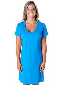 LAT Apparel Ladies 100% Cotton Fine Jersey V-Neck Coverup