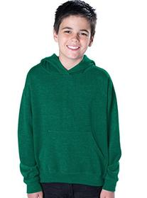 LAT Apparel Youth Pullover Fleece Hoodie - Large - Kelly