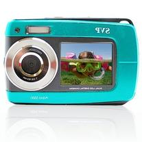 SVP Aqua 5500 Blue 18MP Dual Screen Waterproof Digital