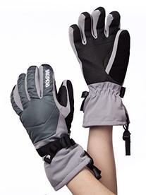 Gordini Women's Aquabloc Down Gauntlet III Gloves, Clay Grey