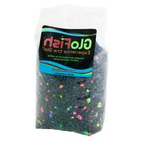 GloFish Aquarium Gravel, Black with Fluorescent Accents, 5-