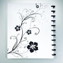 Staples Arc Customizable Hibiscus Design Notebook System,