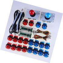 Easyget LED Arcade DIY Parts 2x Zero Delay USB Encoder + 2x