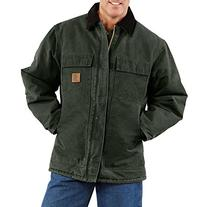 Carhartt Arctic Quilted Traditional Coat, MOSS, XLT