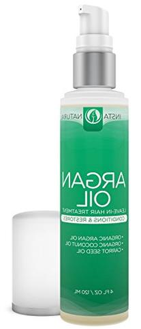 InstaNatural Argan Oil Hair Treatment - Leave-in Conditioner