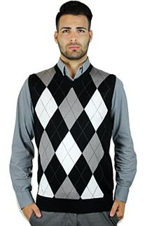 Blue Ocean Argyle Sweater Vest-Medium