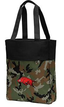 Camo University of Arkansas Tote Bag Arkansas Razorbacks