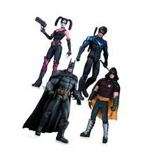 Arkham City: Harley Quinn, Batman, Nightwing, & Robin Action