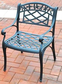 Arm Chair in Charcoal Black - Set of 2