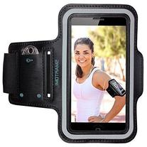 Sport Armband with Adjustable Length Band + Key Slots for