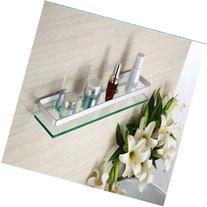 60cm Armoured Glass Shower Caddy Bathroom Shelf Rectangle