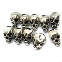 AROCCOM® 10pcs Approx Tibet Silver Skull Spacer Beads---