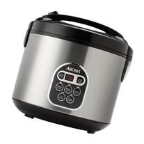 Aroma 20-Cup  Digital Rice Cooker and Food Steamer, Stainless Steel
