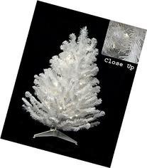 2' Pre-Lit LED Snow White Artificial Christmas Tree -