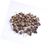 DECORA 50 Pieces Artificial Lifelike Simulation Brown Small