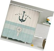 Artsy Shower Curtain Ocean Decor by Ambesonne, Nautical