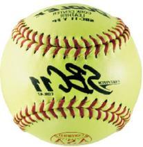 Dudley ASA SBC Leather11-Inch Yellow Fast Pitch Softball, .