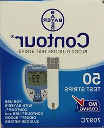 Bayer Ascensia Contour 50 Blood Glucose Test Strips  , 100