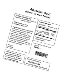 NuSci Ascorbic Acid Vitamin C Pure Powder USP & FCC Quality