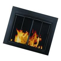 Ascot Fireplace Screen and Bi-Fold Track-Free Glass Door,
