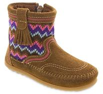 Minnetonka Girls Sweater Bootie Dusty Brown Size 8 M US
