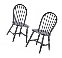 Winsome Wood Assembled 36-Inch Windsor Chairs with Curved