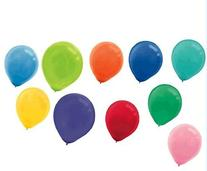 "Assorted Colors 12"" Latex Balloons 72ct"