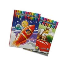 2 Pack Assorted Color By Numbers Coloring Books