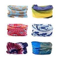 Delicol 6pcs Assorted Seamless Outdoor Sport Bandanna