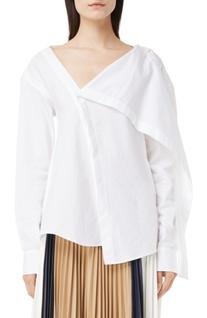 Women's Victoria Beckham Asymmetrical Cotton Shirt, Size 4