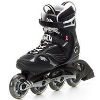 K2 Skate Athena Inline Skates, Black/Silver, 4