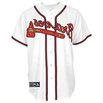 Mens MLB Atlanta Braves Cool Base Jersey, Home White L