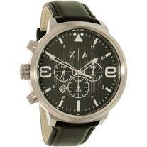 Armani Exchange Men's Atlc AX1371 Black Leather Quartz Watch