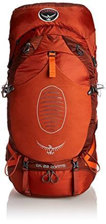 Osprey Men's Atmos AG 65 Backpack, Cinnabar Red, Medium